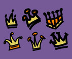 Cartoon Crowns Illustration Vector #2