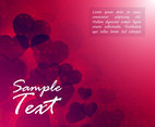 Hearts Background Illustration Vector