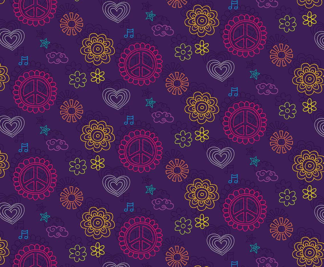 Hippie Pattern Background
