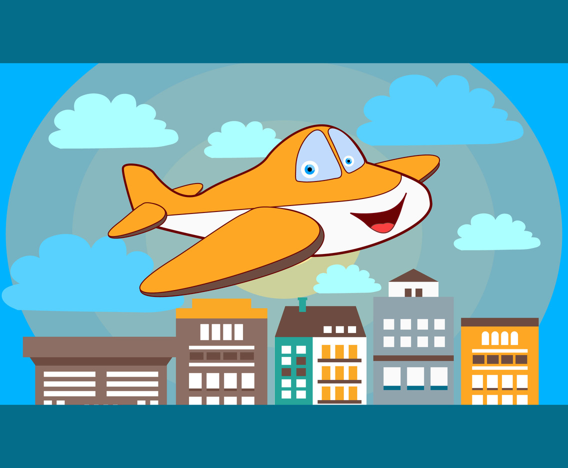 Vector illustration Cartoon Plane