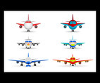 Creative cartoon plane front design