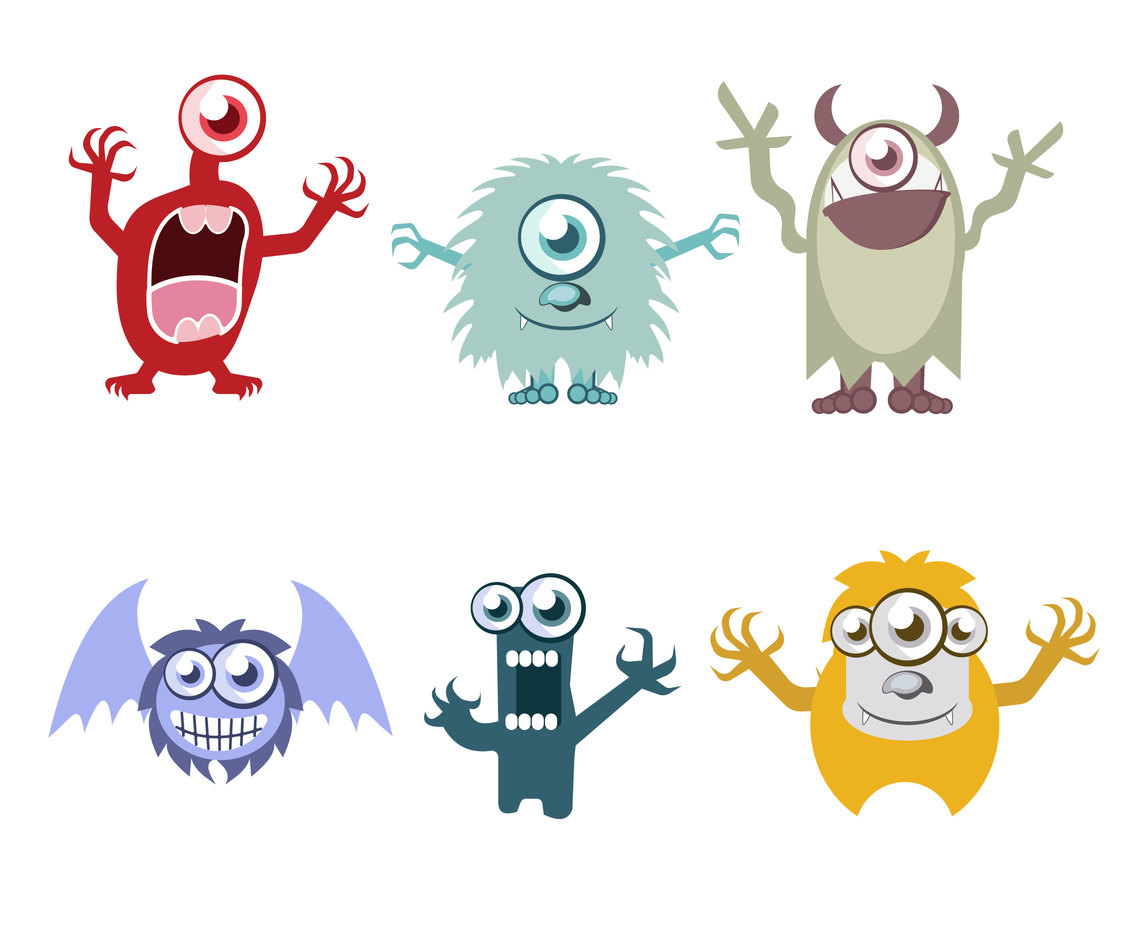 Friendly Monster Cartoon Vector