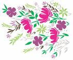 Flowers Background Vector