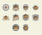 Basketball Logos Vector Set