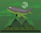 Free Cartoon Plane Illustration