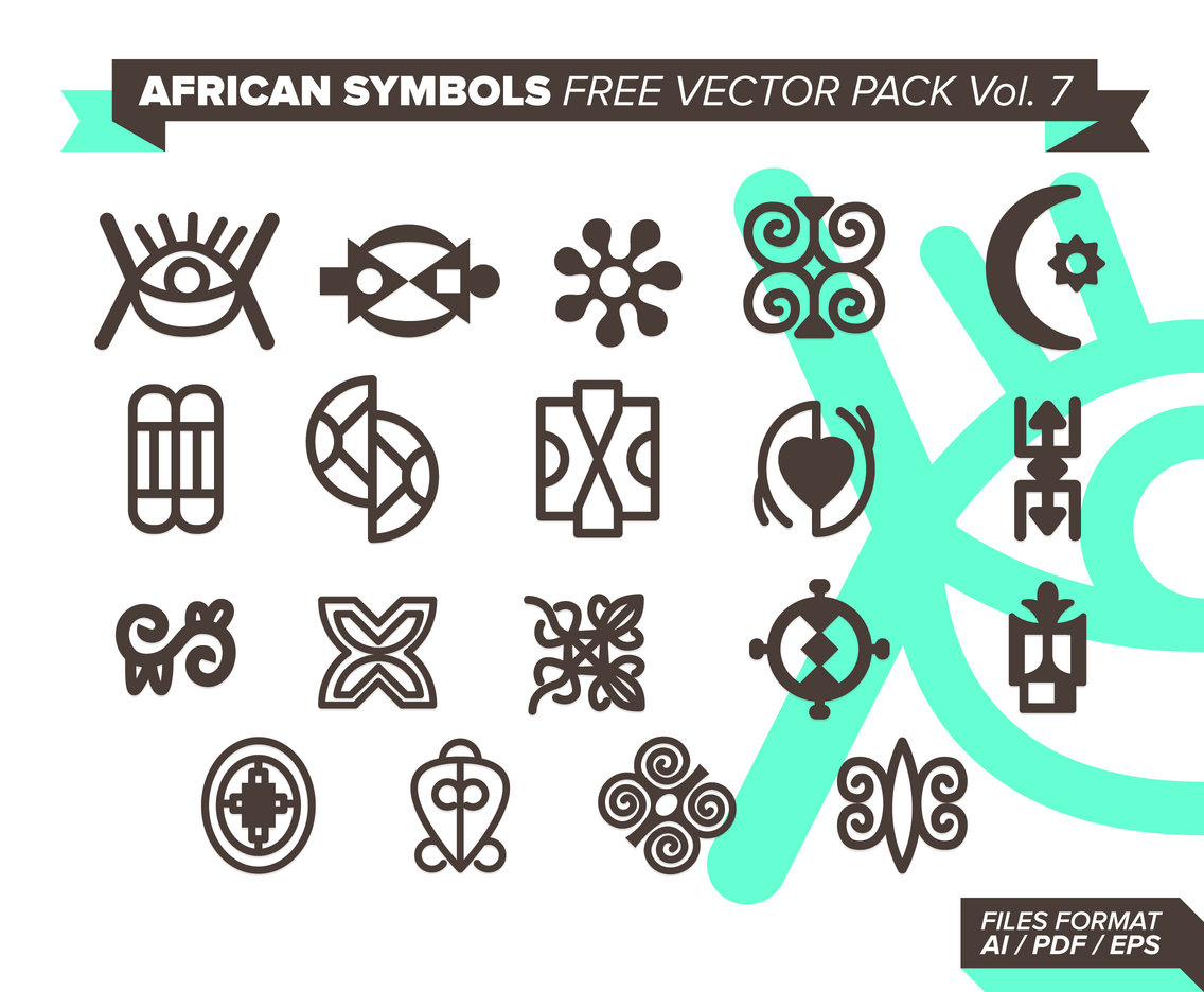 African Symbols Free Vector Pack 7