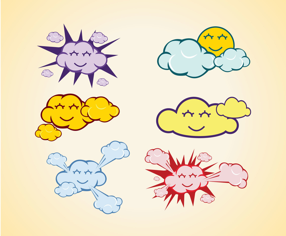 Cute Cloud Vector