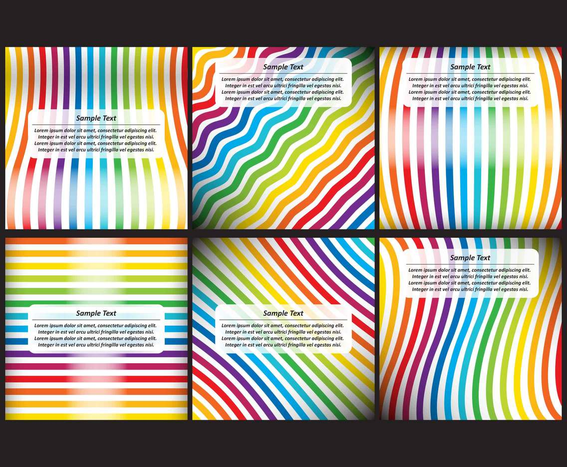 Rainbow Stripes Backgrounds