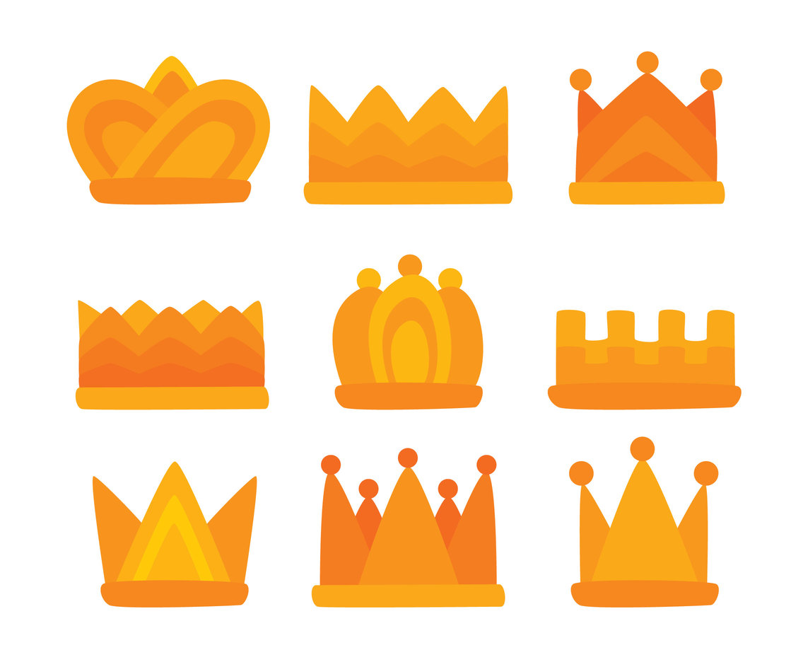 Hand Drawn Cartoon Crown Vector