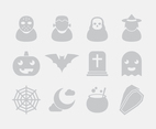 Gray Halloween Icons
