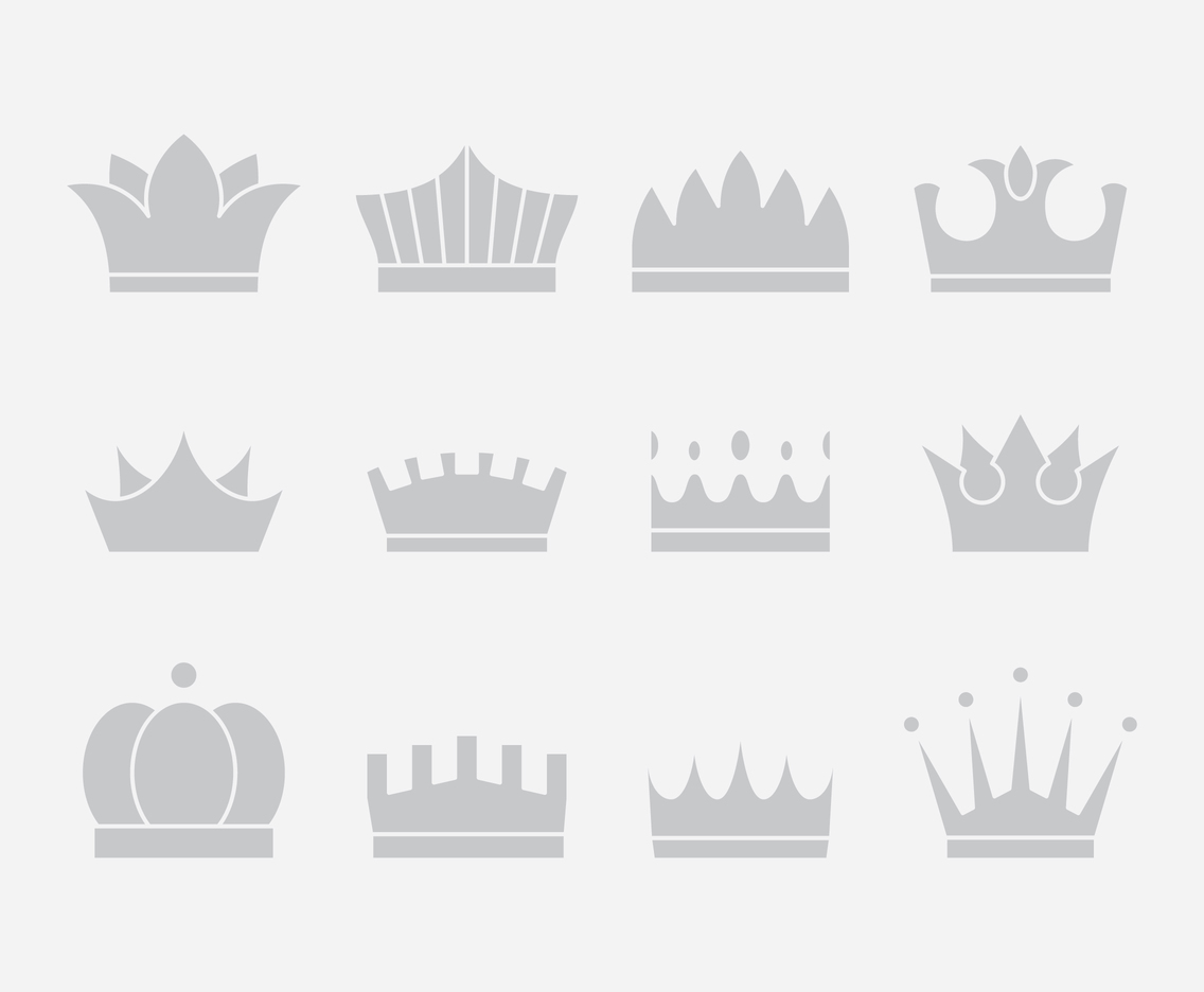 Gray Crown Icons