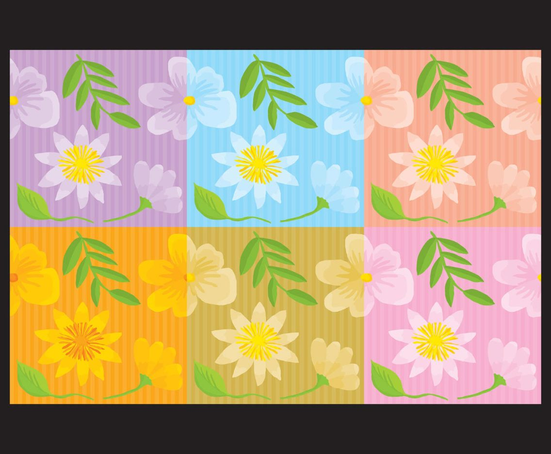 Hand-made Flower Backgrounds