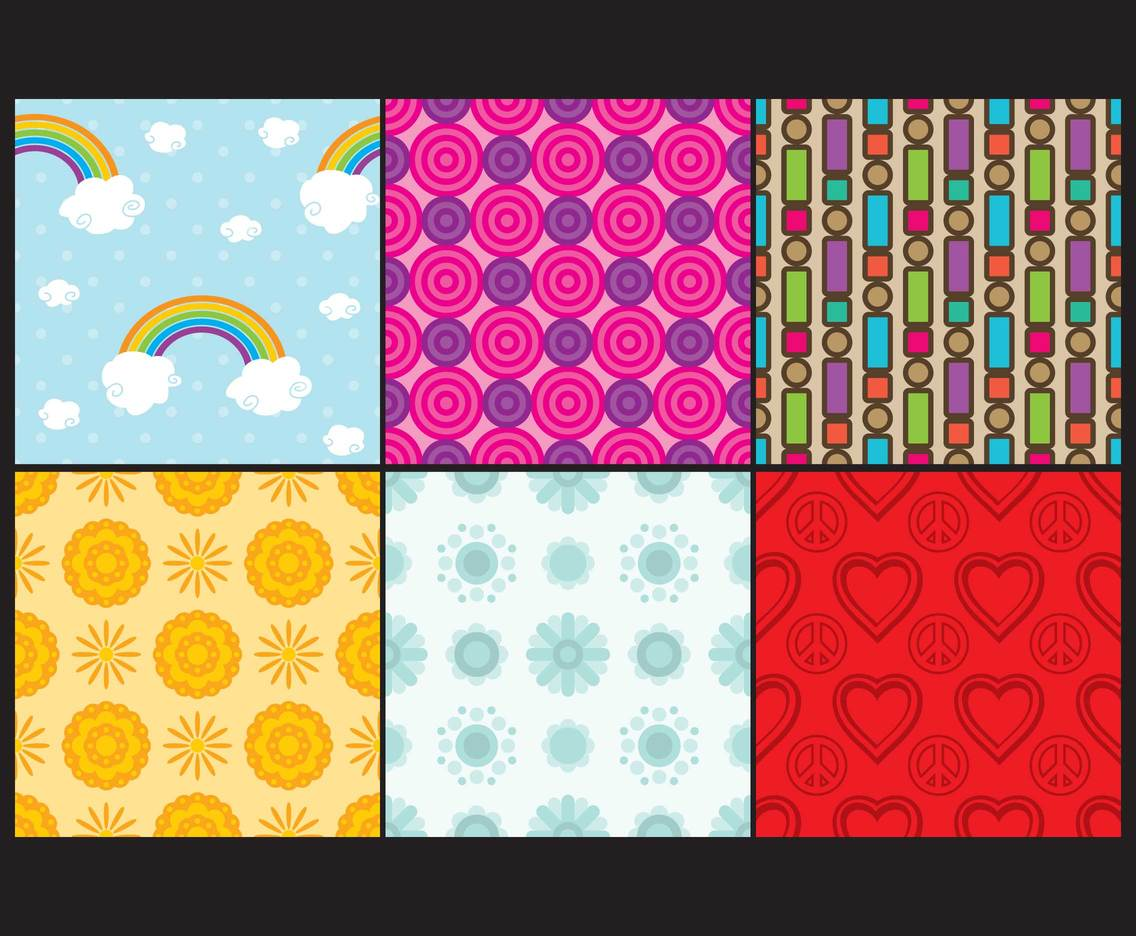 Illustrated Hippie Patterns