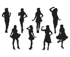 Woman Silhouette Vectors