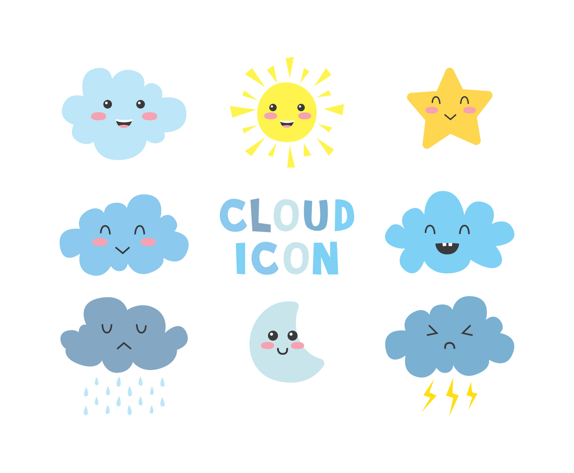 Cute Cloud Icons