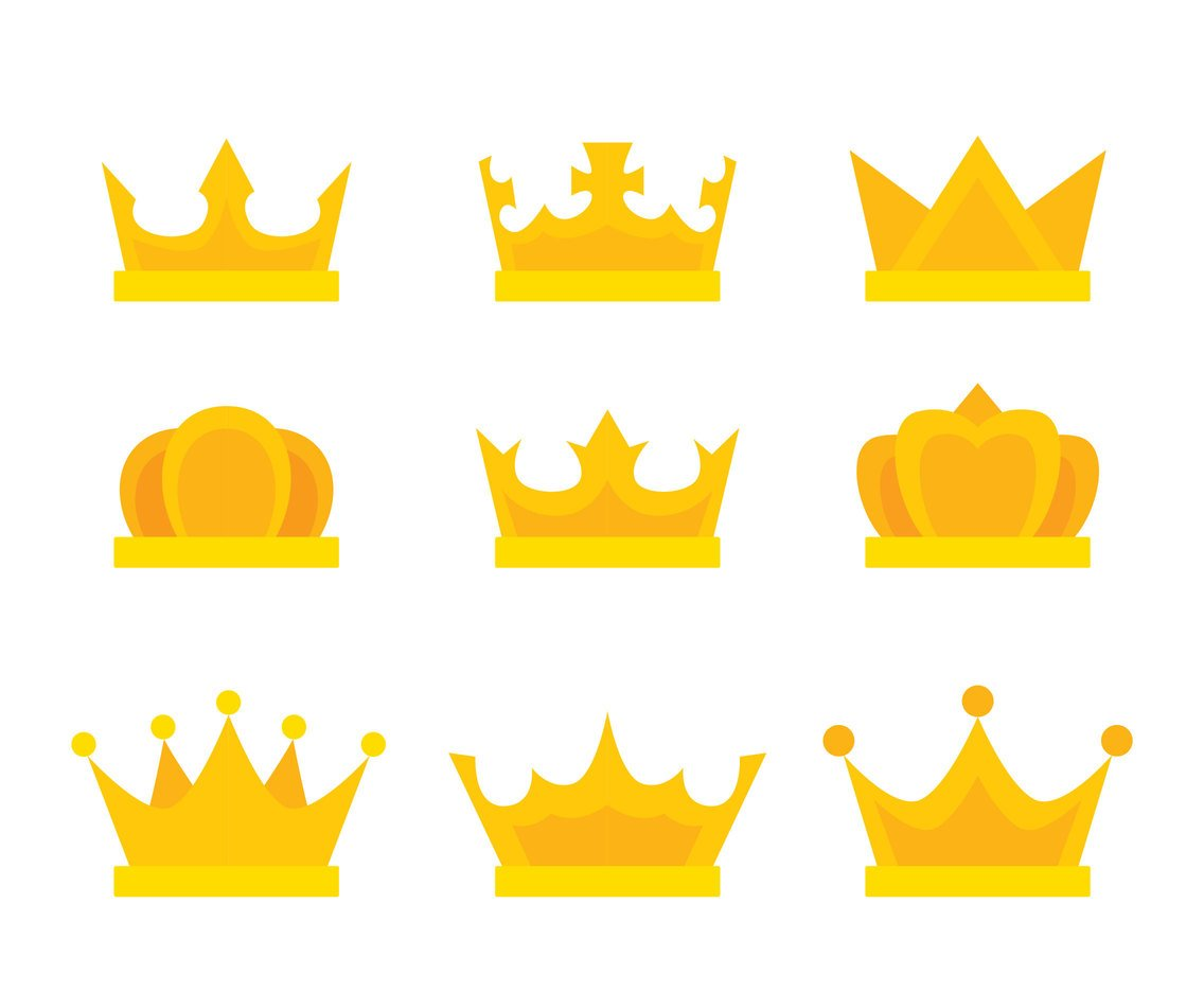 Cartoon Crown Collection Vector