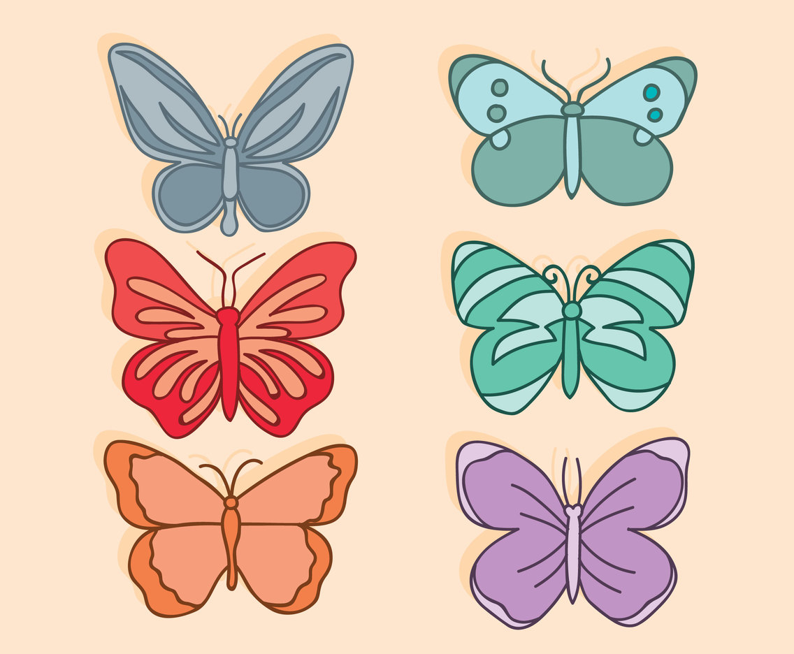 Butterfly Clip Art Vector Set