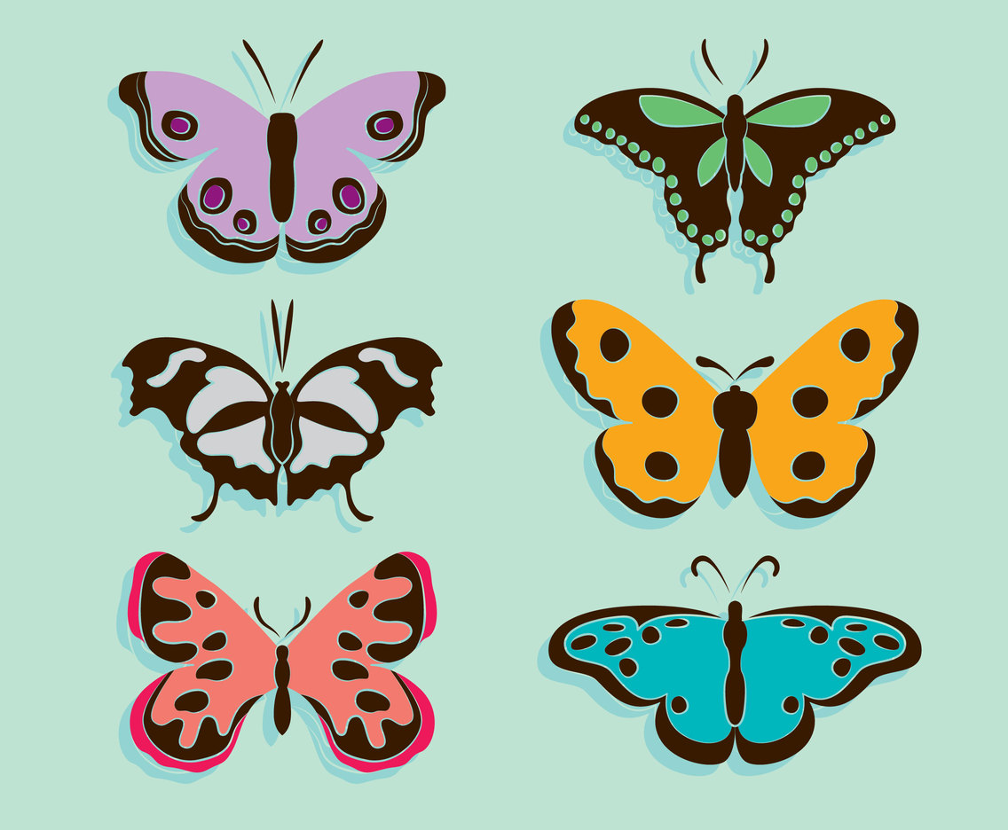 Butterfly Clip Art Collection Vector