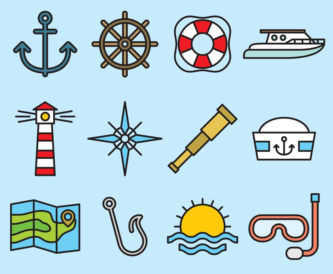 Cute Sea Icons