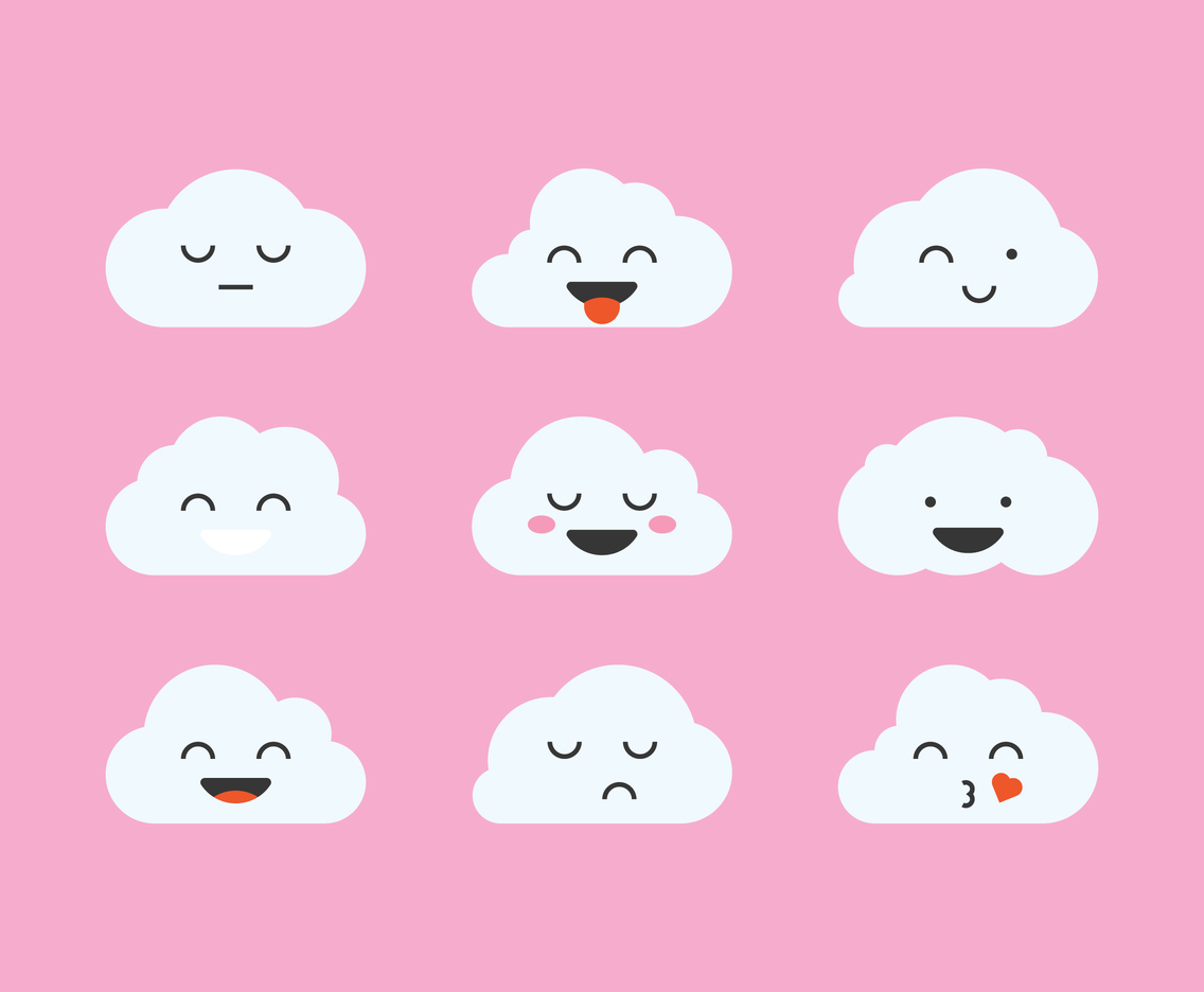Cute Clouds Emoticon 19760