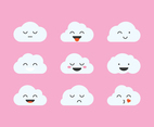 Cute Clouds Emoticon