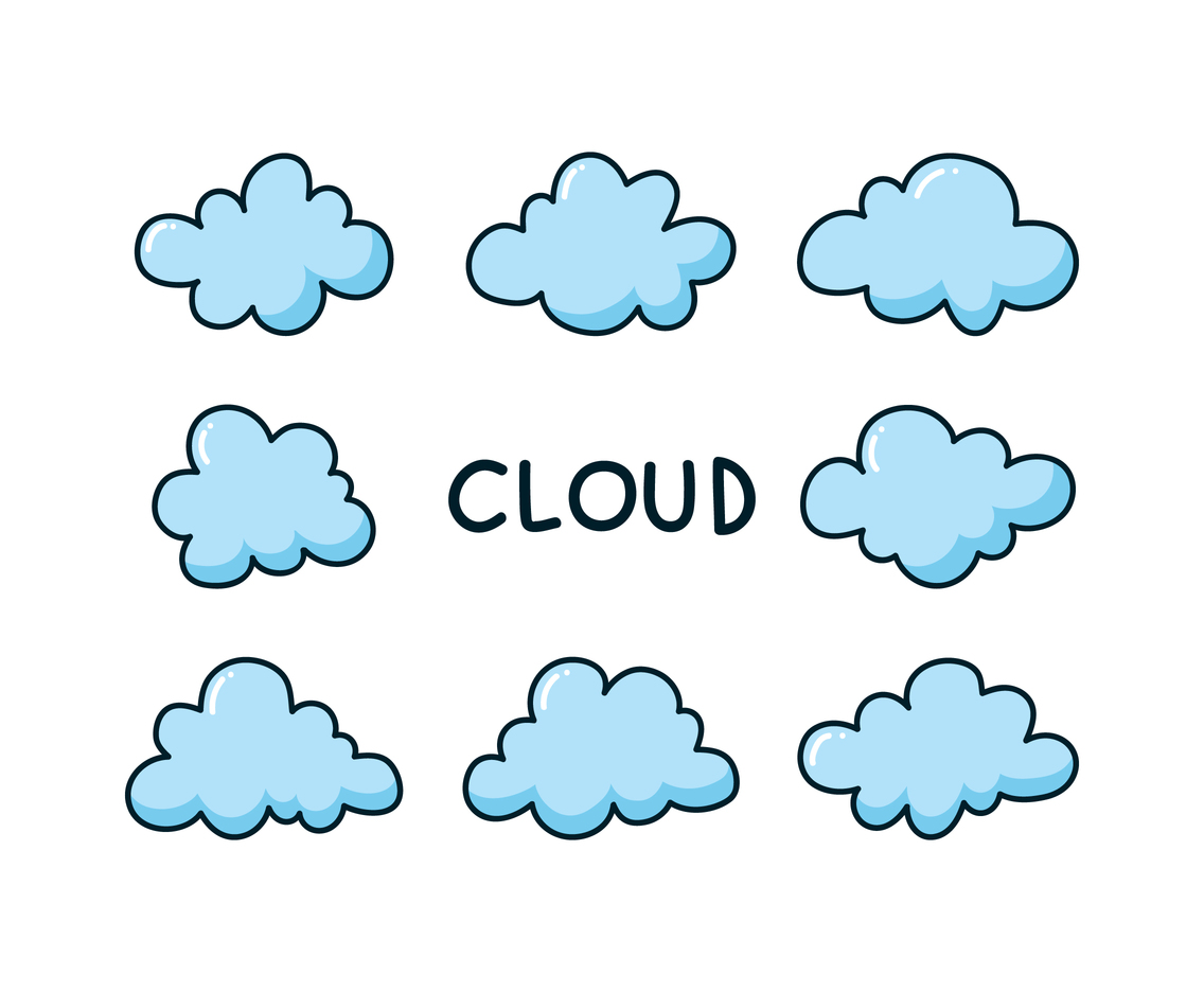 Funny Clouds Illustration