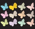 Cute Textured Butterflies