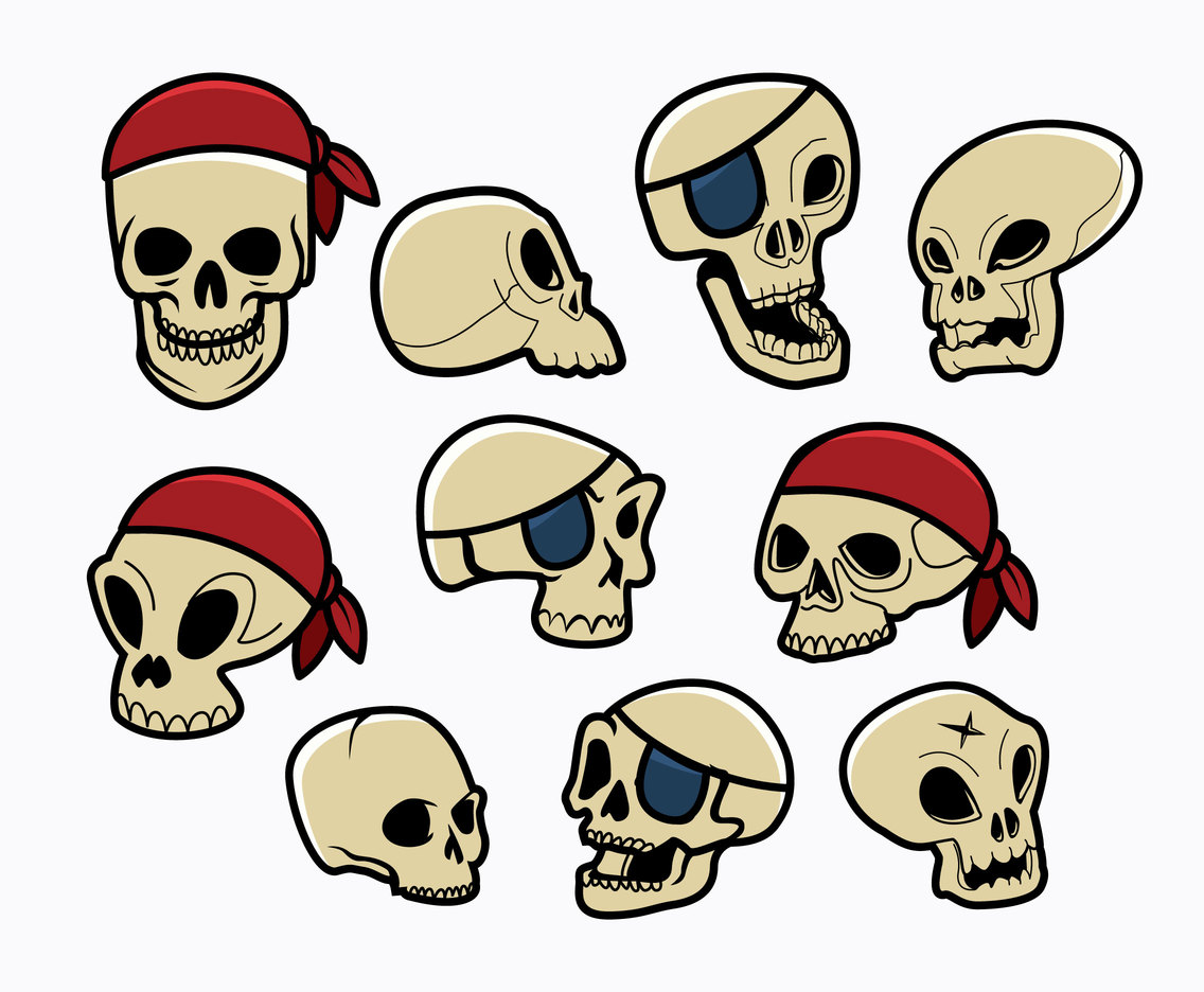 Free Cartoon Skull Icons