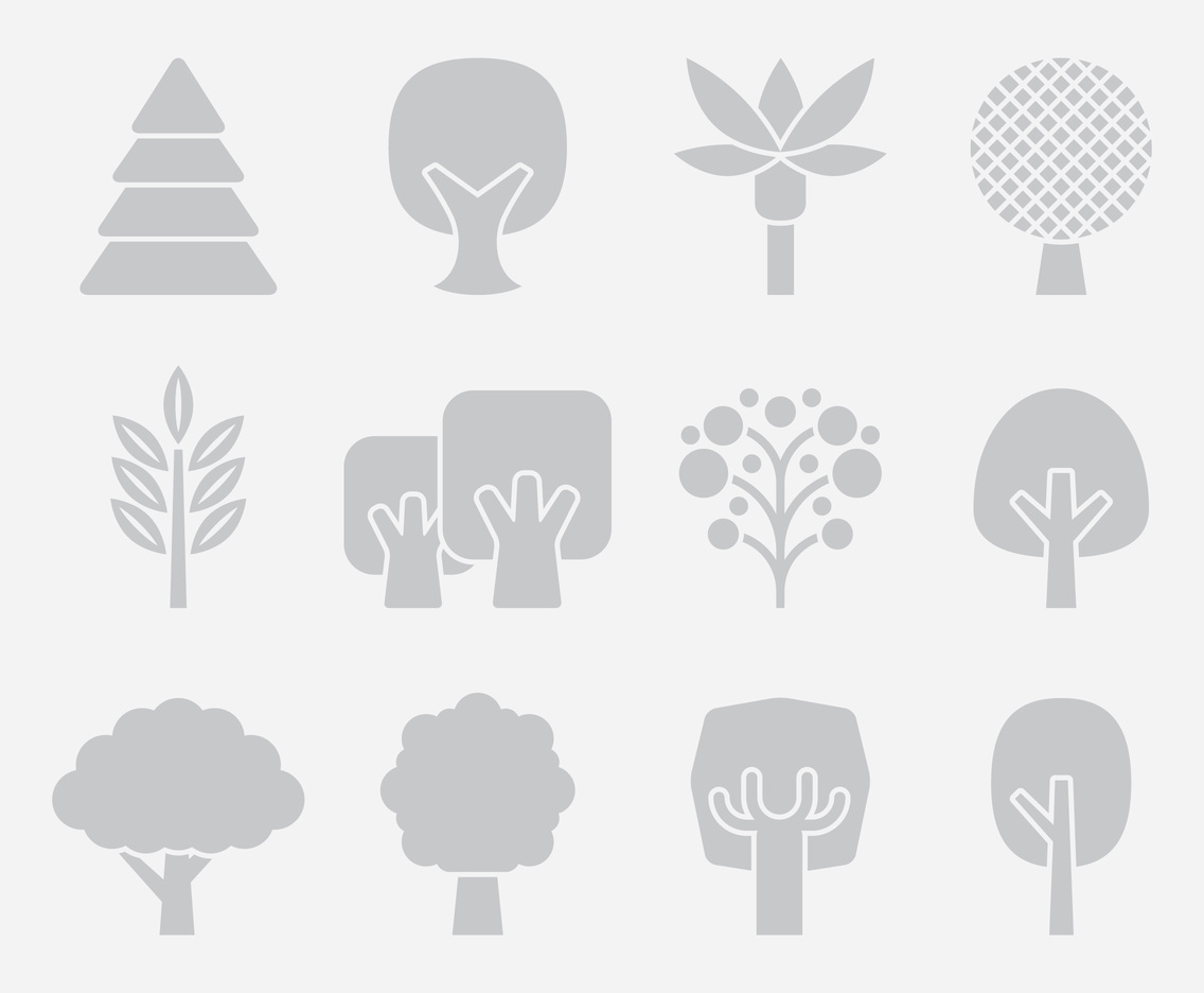 Gray Tree Icons