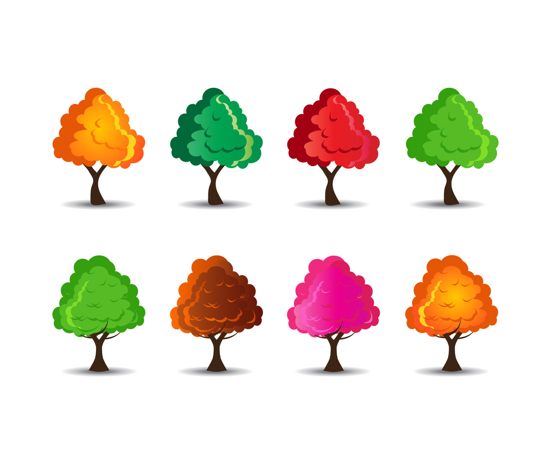Tree Vector cute cartoon
