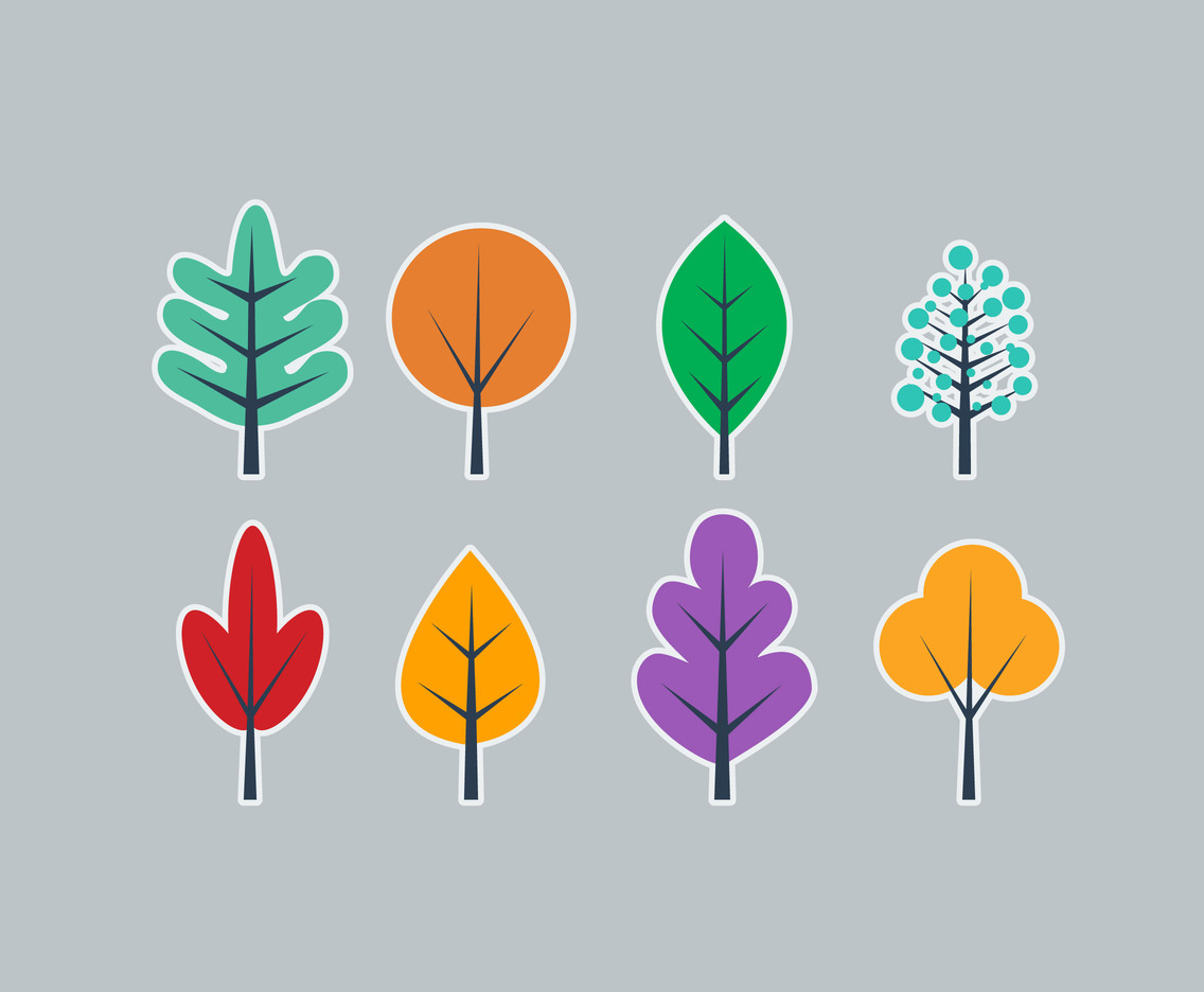 Simple Tree Flat vector