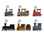Fun Train Cartoon Vectors