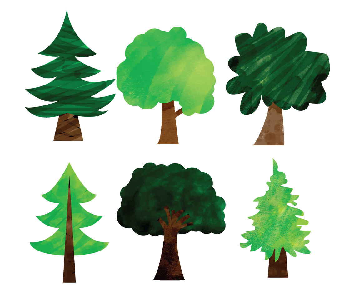 Painted Tree Vectors