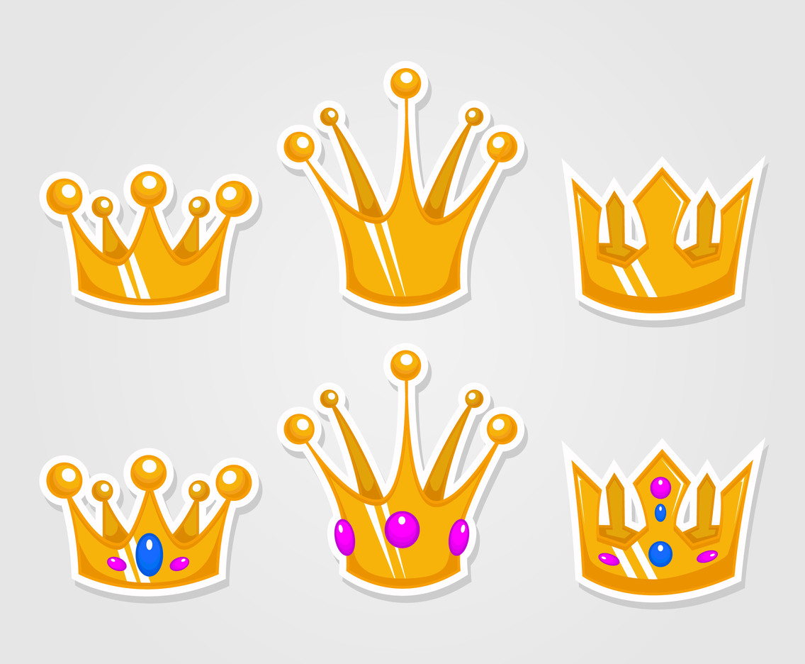 Cartoon Gold Crown Vectors