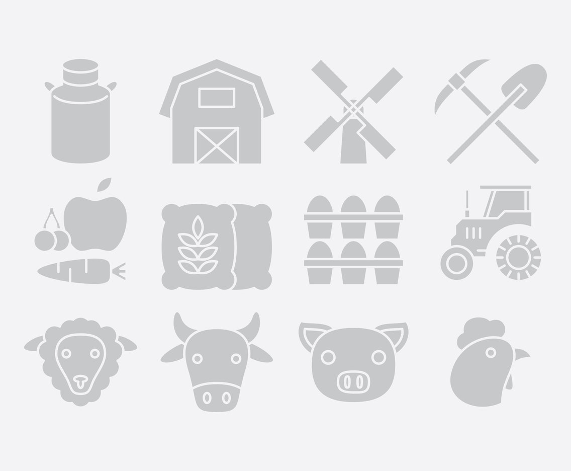 Gray Farm Icons