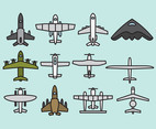 Cute Airplane Icons