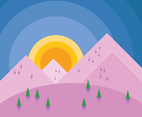 Abstract Sunset Illustration Vector
