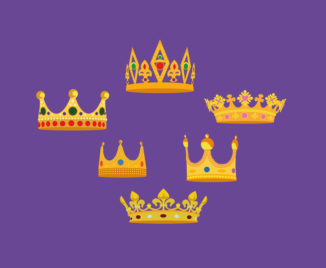 Cartoon Royal Crown Vector