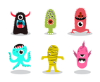 Free Cartoon Monsters Vector