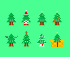 Free Cartoon Christmas Tree Vector