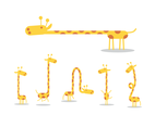 Free Cartoon Giraffe Vector