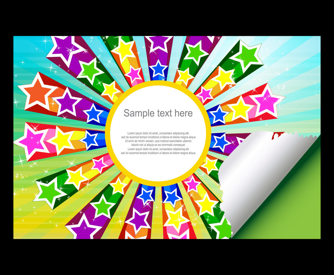 Star Colorful Background Vector