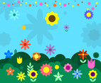 Free Flowers Background Vector