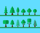 Tree flat cartoon vector