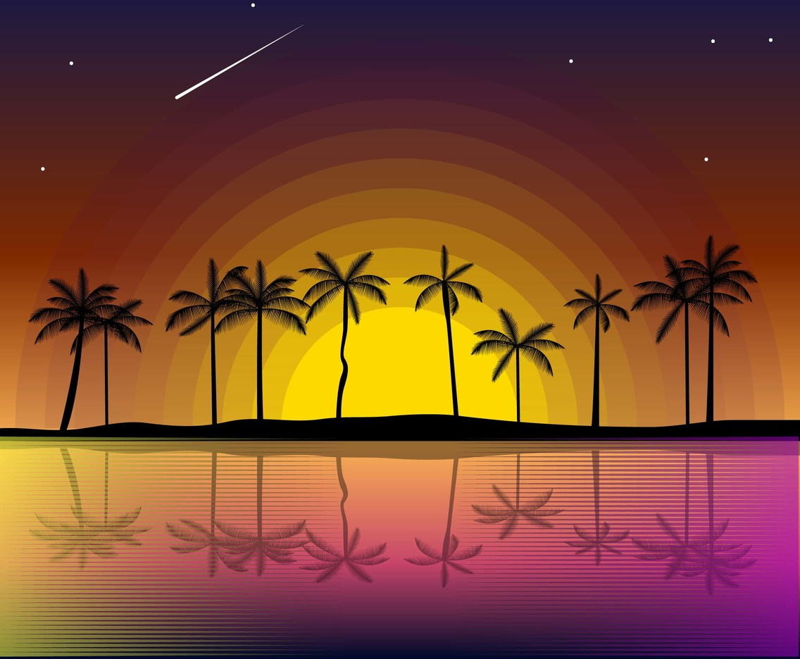 Free Sunset Background Vector