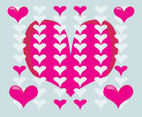 Lovely Hearts Background Vector