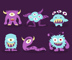 Cartoon Monsters Illustraton Vector
