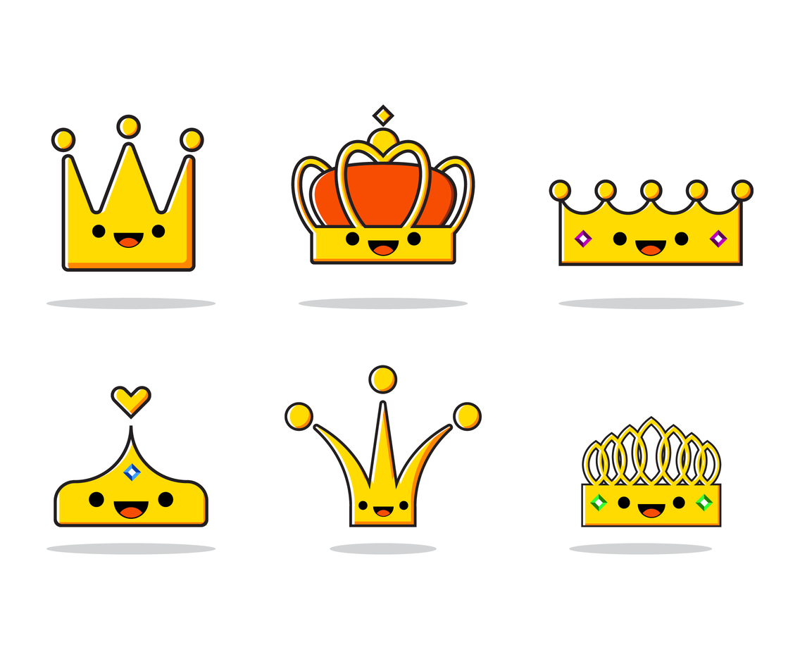 Free Cartoon Crown Vector