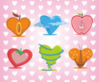 Hearts Background Vector Set