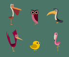 Free Cartoon Birds Vector
